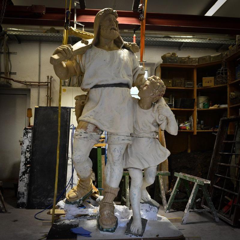 Tell 3D Druck + klassische Bildhauerarbeit